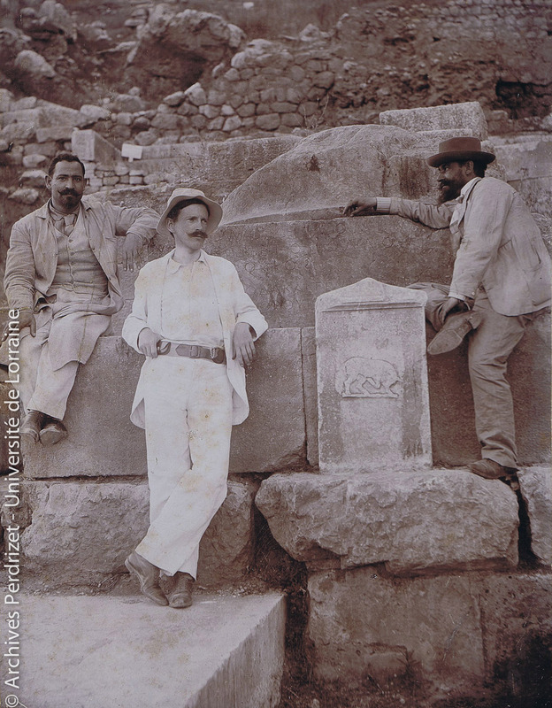 Pierre Jouguet, Paul Perdrizet et Théophile Homolle à Delphes