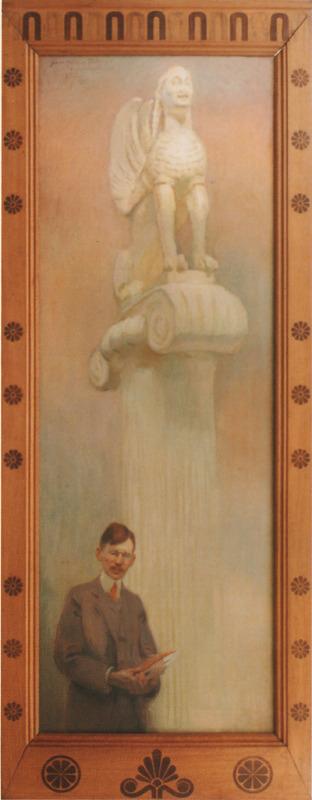 Portrait de Paul Perdrizet dans le musée archéologique universitaire
