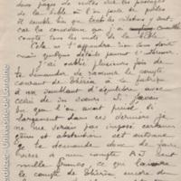 [Lettre de Lucien Bourgogne à Paul Perdrizet sur ses recherches sur les perles et les comptes familiaux des établissements Gallé]