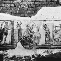 Scènes du cycle d'Œdipe sur une fresque d'Hermopolis Magna