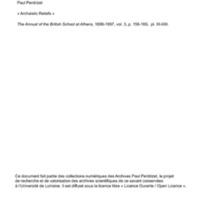 Perdrizet 1896 - Archaistic Reliefs.pdf