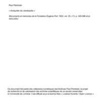 Perdrizet 1922-Antiquités de Leontopolis.pdf