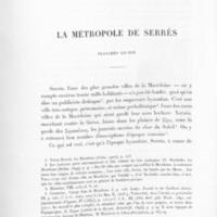Perdrizet et Chesnay 1903 - La métropole de Serrès.jpg