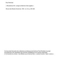 Perdrizet 1921-Miscellanea XIII - Ligue acheenne et les Lagides.pdf