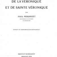 Perdrizet_1932-De la veronique et de sainte Veronique.jpg