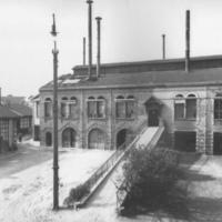 Usine Gallé à Nancy après l'extension de la halle de verrerie en 1911