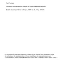 Perdrizet 1904-Note sur les metopes du tresor des Atheniens a Delphes.pdf