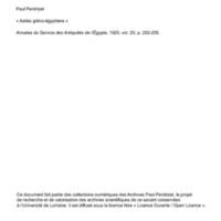 Perdrizet 1920-Asiles greco-egyptiens asiles romans.pdf