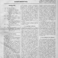 Première page du premier numéro du Bulletin périodique de la presse grecque